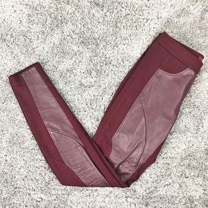 Ted Baker Leather Paneled Leggings Pants